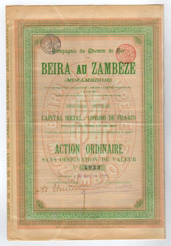 Compagne du Chemin Per de Beira au Zambeze
