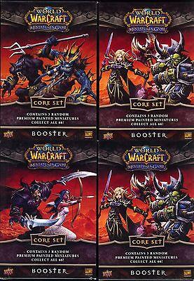 World of Warcraft Miniature Core Booster Packs X4 MINT