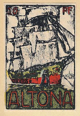 Altona (Stadt) 20 Pf.-Schein Türme mit KNr. 5 mm ! -sehr selten-  (L 29 b.7)