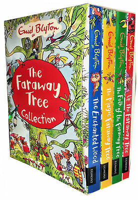 Enid Blyton The Magic Faraway Tree Collection 4 Books Set Pack Enchanted Wood