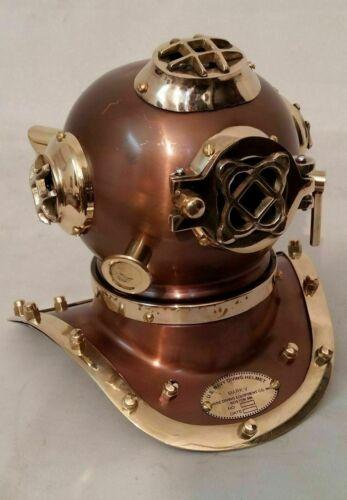 Antique Diving Helmet Brass Divers Maritime US Navy Mark Handmade Vintage Gift