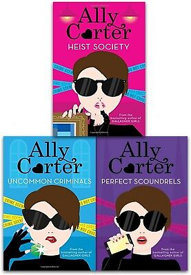 Ally Carter Heist Society 3 Books Collection Set Perfect Scoundrels, Criminals