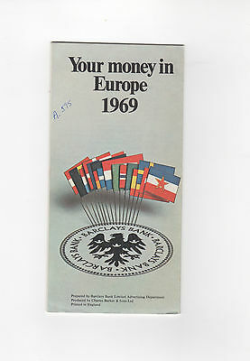 Vintage 1969 Brochure - YOUR MONEY IN EUROPE - BARCLAYS GROUP BANK - ENGLAND