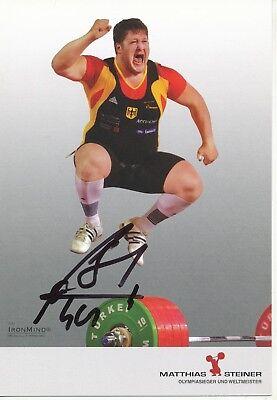 Matthias Steiner  Gewichtheben Autogrammkarte original signiert  328442