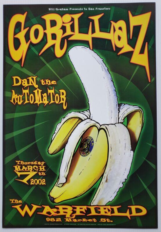 Gorillaz Concert Poster 2002 BGP-277 Warfield