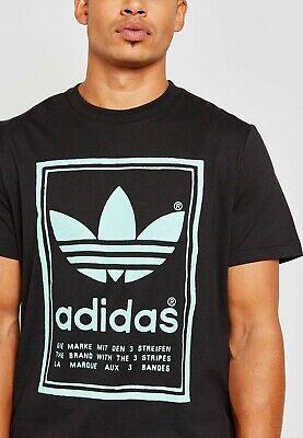 adidas Originals Men's Vintage Tee Black / Mint Green DJ2712 Trefoil Choose Size