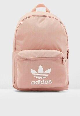 Adidas Originals Classic Backpack Gym Bag Pink Sports Adicolor Womens Girls BNWT