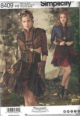 8409 Uncut Simplicity Nähmuster Misses Saloon Girl Western Kostüm (Saloon Girl Kostüm Spiele)