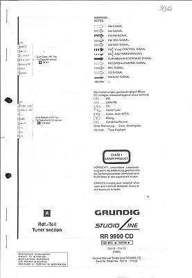 Grundig Original Service Schaltplan für RR 9900 CD