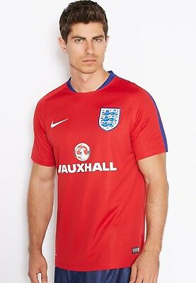Nike England Men's Flash 2016/17 Football Training Top Shirt New 725300 Size M