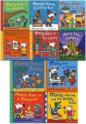 Maisy Mouse First Experiences Collection 10 Books Set in a ZipLock Bag Gift (Experience Gift Pack)
