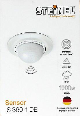 Steinel Bewegungsmelder IS360-1 weiß 360° Sensor, 4 m Reichweite, LED geeignet  360-sensor