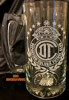 Laser Engraved Beer - DEPORTIVO TOLUCA tarro sport Beer Mug 26.5 oz Personalized Laser Engraved FUTBOL