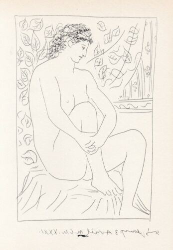 Pablo Picasso, Nude Woman Seated Before a Curtain, Vollard Suite