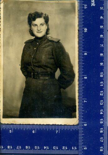 WW 1944 Military Vintage Photo Women girl USSR uniform long hair