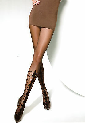 Tights with specially designed pattern, fashion pantyhose : ROULETTE TIGHTS