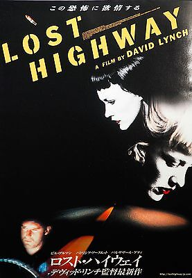 Lost Highway 1997 David Lynch Horror Japanese Chirashi Mini Movie Poster B5