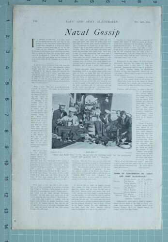 1914 WW1 PRINT SAILORS NAVAL NAVY SEWING MENDNIG UNIFORM