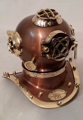 Antique Vintage Diving Helmet Brass Divers Maritime US Navy Mark Handmade Gift