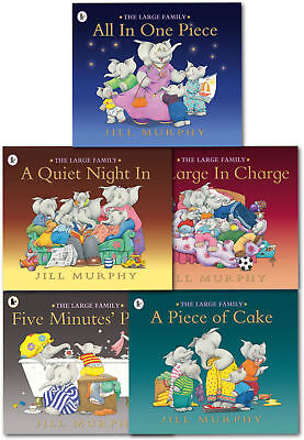 The Large Family Set Collection Jill Murphy Set  5 Books - SEALED SET