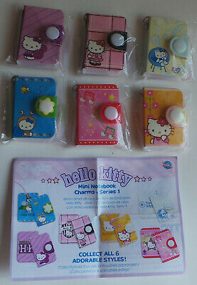 Hello Kitty Mini notebook Charms set of 6