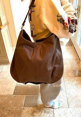 Stella Mccartney Large Brown Vegetarian Leather Bag with Gold Details