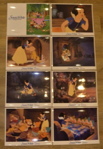 Disney Snow White and the Seven Dwarfs lobby cards - Set of 8 1990