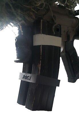 AirSoft M4 Dual mag Flexible Lightweight Clip 3D Printed Black PRCJ