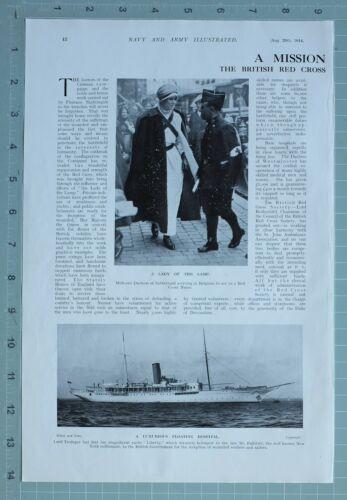 1914 WW1 PRINT BRITISH RED CROSS SOCIETY REGIMENTAL FIELD HOSPITAL NURSES