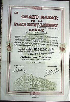 Grand Bazar de la Place Saint-Lambert Aktie 1944 Belgien Liège Kaufhaus Lüttich