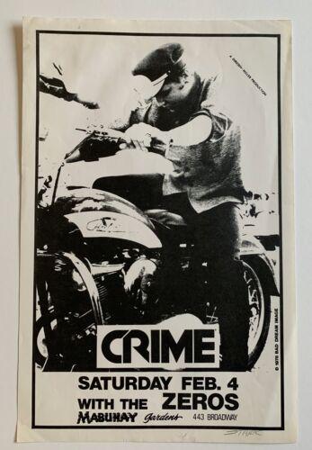 Crime With The Zeros Original Punk Concert Poster