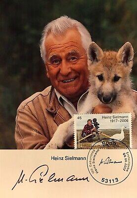 Autogramm Heinz Sielmann (2006+) Tierfilmer Mi Bund 3318 Ersttag gestempelt 192#