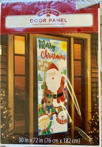 "Merry Xmas Winter Door Cover Santa Friends 30"" x 72"" party decor Happy Holidays"