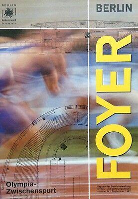 Zeitschrift FOYER, Nr. IV 09/1992 - Olympia • Zwischenspurt  - SenBauBln.