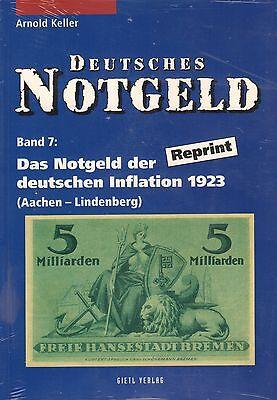 6016: Deutsches Notgeld, Bd. 7+8, Das Notgeld der dt. Inflation 1923, A. Keller