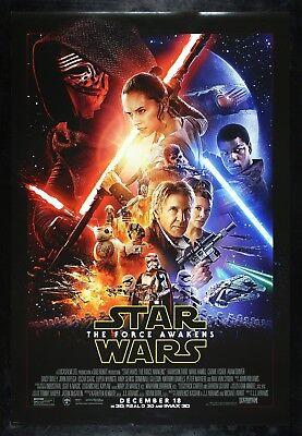 STAR WARS THE FORCE AWAKENS CineMasterpieces 2015 BIG HEADS VERSION MOVIE POSTER