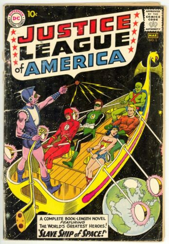 Justice League Of America (1960) #3 1st Print Silver Age 1st App Kanjar-Ro Good-