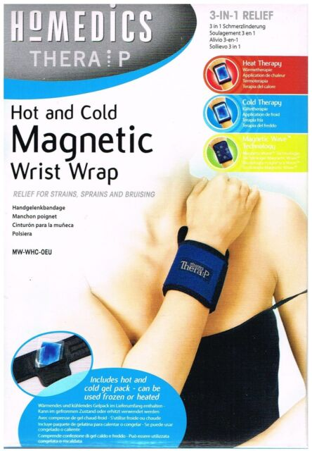 Homedics Hot & Cold Gel Therapy Magnetic Wrist Wrap Support