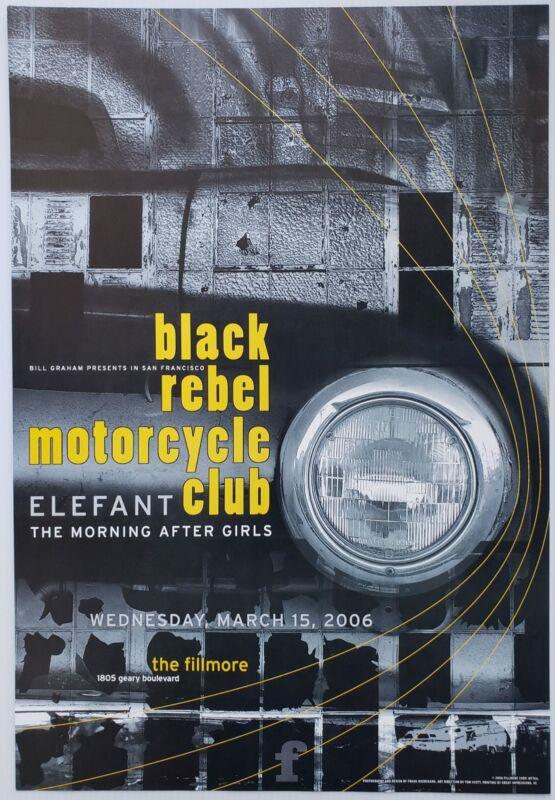 Black Rebel Motorcycle Club Concert Poster 2006 F-764 Fillmore