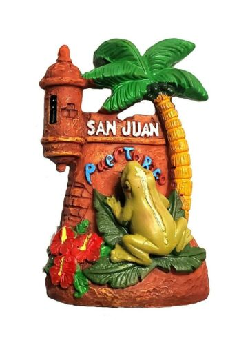 Puerto Rico Coqui & Garita Figures Inches Figurine Rican PR Boricua San Juan