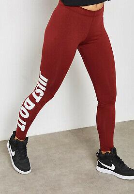 Nike Maroon Leg A See Logo Leggings