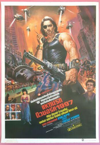 Escape from New York 1981 Thai Movie Poster Original John Carpenter Kurt Russell