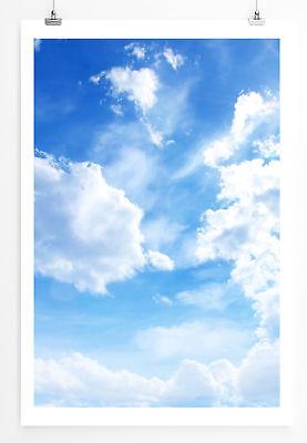 90x60cm Poster  Himmel mit kleinen Wolken und Sonnenschein ()