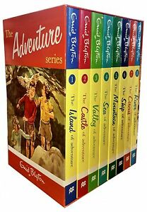Enid Blyton's Adventure Series 8 Books Set Collection Castle, Island, Sea, River
