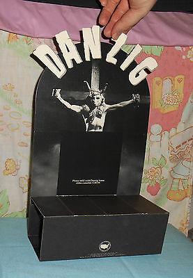vintage 1990 DANZIG home video cassette COUNTER DISPLAY standee Def American