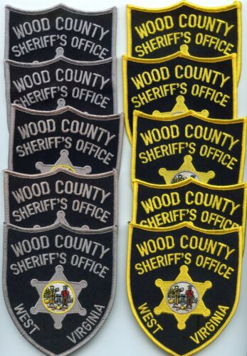 WOOD COUNTY WEST VIRGINIA Trade Stock 10 Police Patches SHERIFF POLICE PATCH