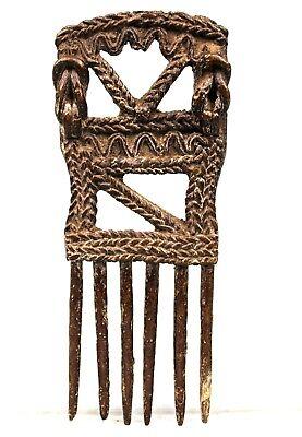 Art African Tribal - Comb Akan Ashanti Bronze - African Comb - 15,5 CMS