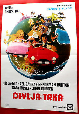 GUMBALL RALLY 1976 MICHAEL SARRAZIN TIM McINTIRE GARY BUSEY  EXYU MOVIE POSTER