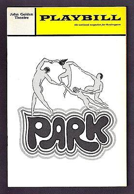 """Julie Wilson """"PARK"""" Don Scardino / Joan Hackett 1970 FLOP Premiere Playbill"""