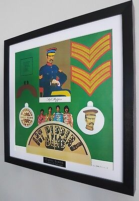 Sgt Pepper's The Beatles Framed Album Artwork John Lennon Paul McCartney Ringo